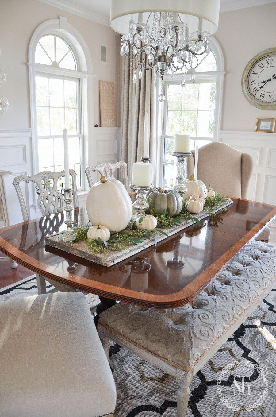 Easy Pumpkin Thanksgiving Table Dining Room Table Centerpieces Dining Room Centerpiece Dining Table Centerpiece