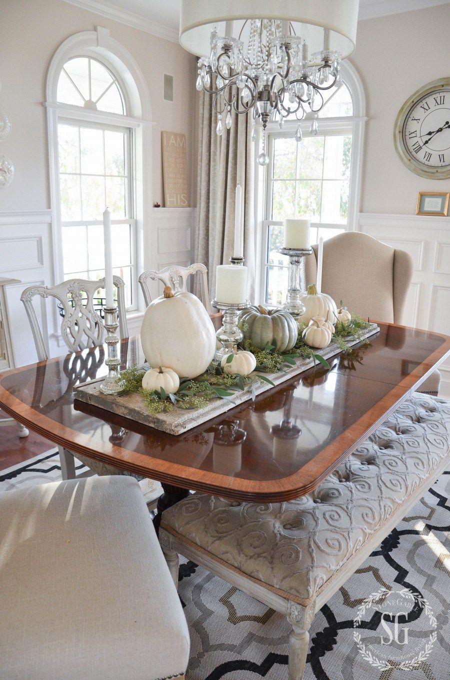 Easy Pumpkin Thanksgiving Table Dining Room Table Centerpieces Dining Room Centerpiece Dining Table Centerpiece