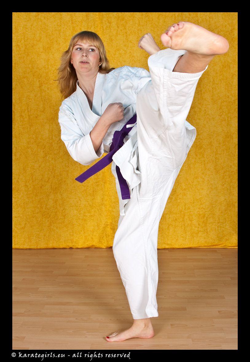 Martial arts women kick