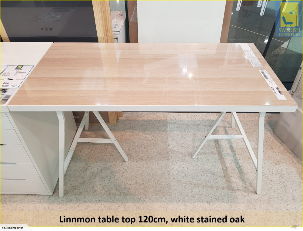 Ikea Linnmon Table Top 120 Only Table Top White Stained Oak