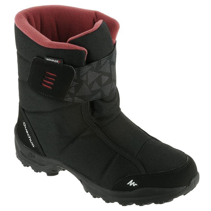 QUECHUA Women's Snow Hiking Boots SH100 X Warm Black Pink