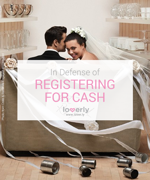 In Defense of Registering for Cash Wedding sparklers