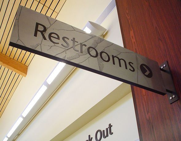 restroom directional sign. Architectural Signage - Priority Graphics: The Restroom Sign Is\u2026 Directional W