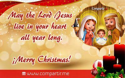 Frases Cristianas De Navidad En Ingles Con Imagen De Nacimiento De Jesús Christmas Time Christmas Holiday
