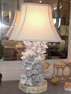 DIY - Make a Sea Shell Lamp with oyster shells & sea glass | DIY ...
