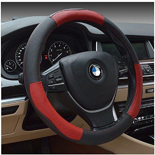 Mukool 15inch Leather Steering Wheel Cover Automotive Steering Wheel