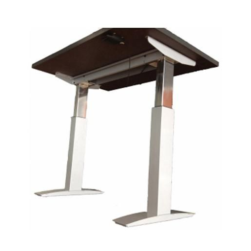 Latest Symmetry fice Clarity Two Leg Pneumatic Height Adjustable Tables Base ly Clarity pneumatic bases are Simple - Beautiful telescoping table legs Contemporary