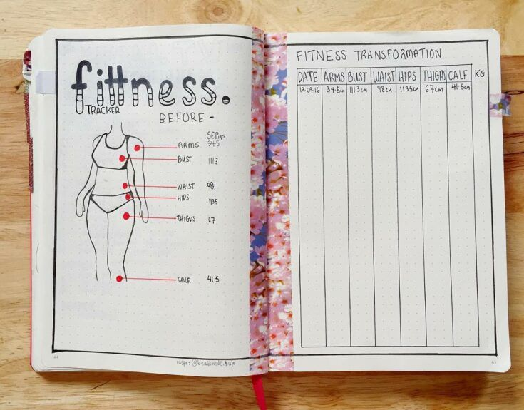 Fitness bullet journal trackers to achieve your health goals in 2020