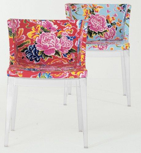 Philippe Starck S Missoni Fabric Mademoiselle Chair: Scavenger: 2 New Kartell Mademoiselle Chairs For $1400