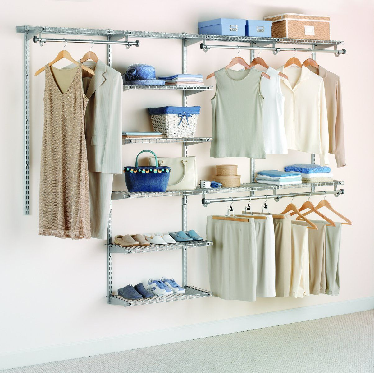 Amazon.com: Rubbermaid Configurations Custom Closet Deluxe Kit ...