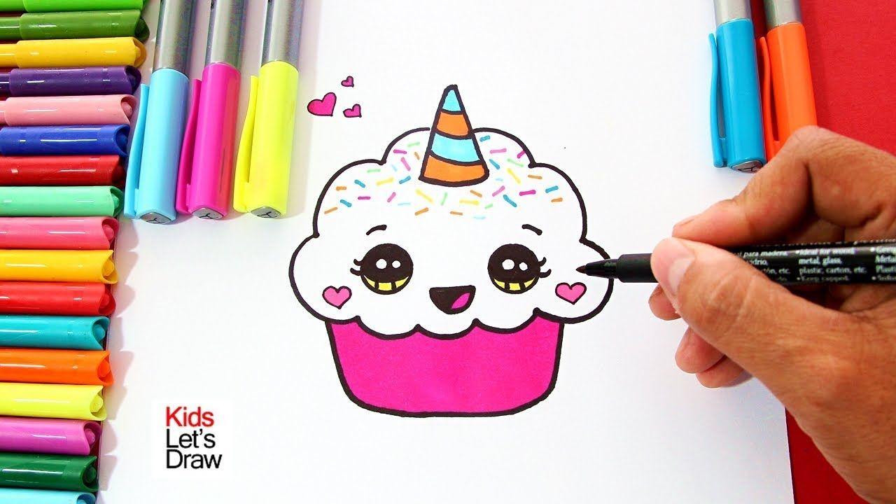 Cómo Dibujar Un Cupcake Unicornio Fácil Paso A Paso How To Draw A Unicorn Cup Unicornios Para Dibujar Como Dibujar Un Unicornio Dibujos Animados Para Dibujar