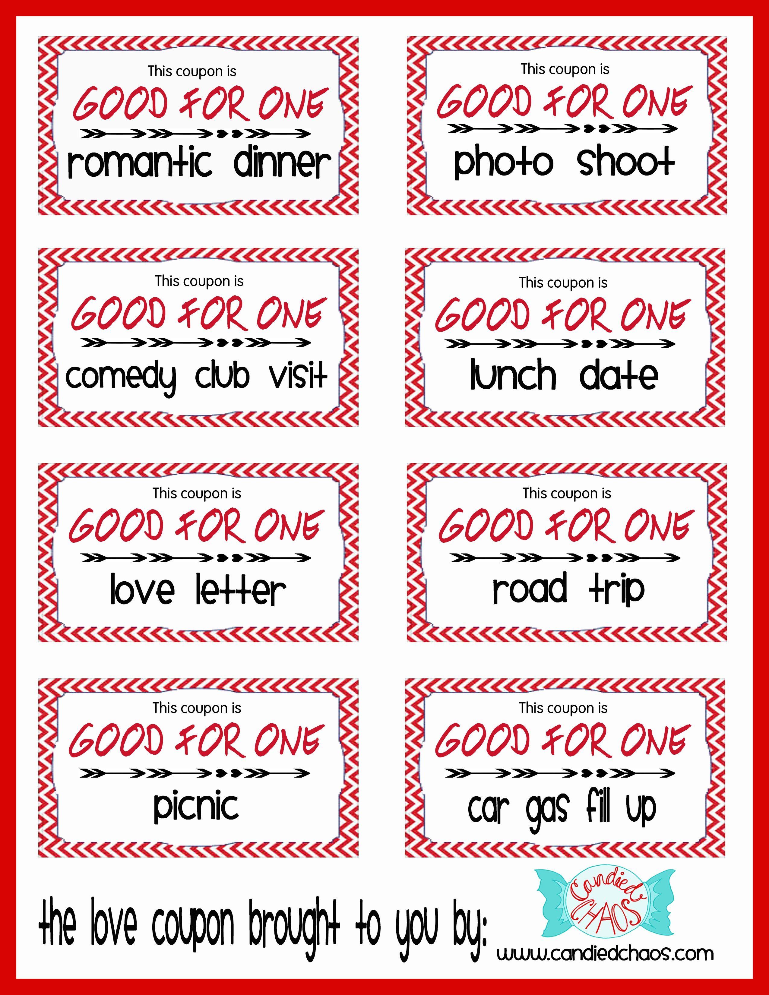 Valentine Coupon Ideas