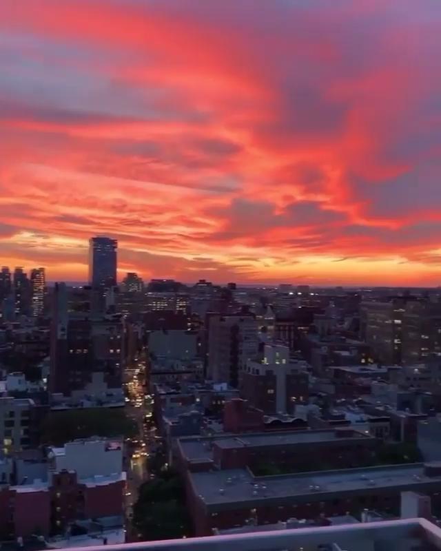 Incredible Sunset over Manhattan, New York city!