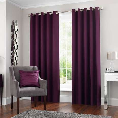 5A Fifth Avenue Venice Plum Blackout Eyelet Curtains | Living rooms ...