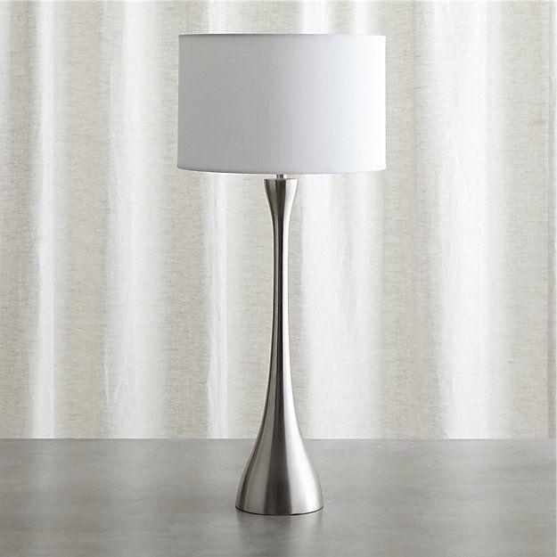 Melrose Nickel Buffet Lamp Nickel Table Lamps Lamp Buffet Lamps