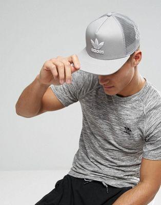Gorra estilo baseball en gris liso con trifolio BK7313 de adidas Originals a3f03c58f4c
