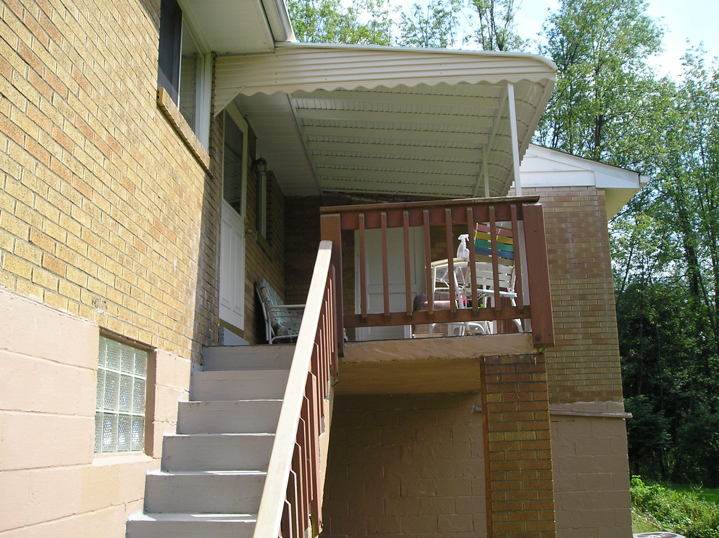 Step Down Aluminum Awnings