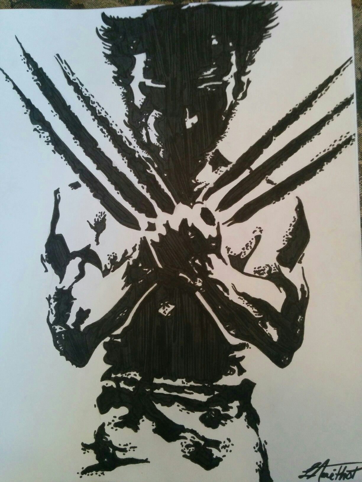 Wolverine by me :) my fav Marvel character
