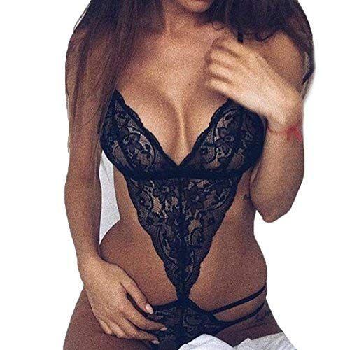 0cad8aac8637c  sex-tools-shop.com Nacome Women Teddy Lingerie One Piece Babydoll Mini  Lace Bodysuit  sextoolsshop