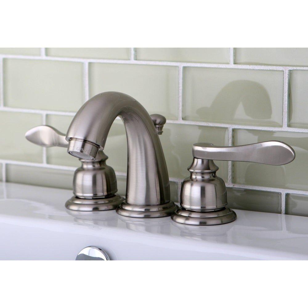 Photo of Nuwave Brushed Nickel Mini-Widespread Bathroom Faucet (Satin Nickel), Gray, Kingston Brass