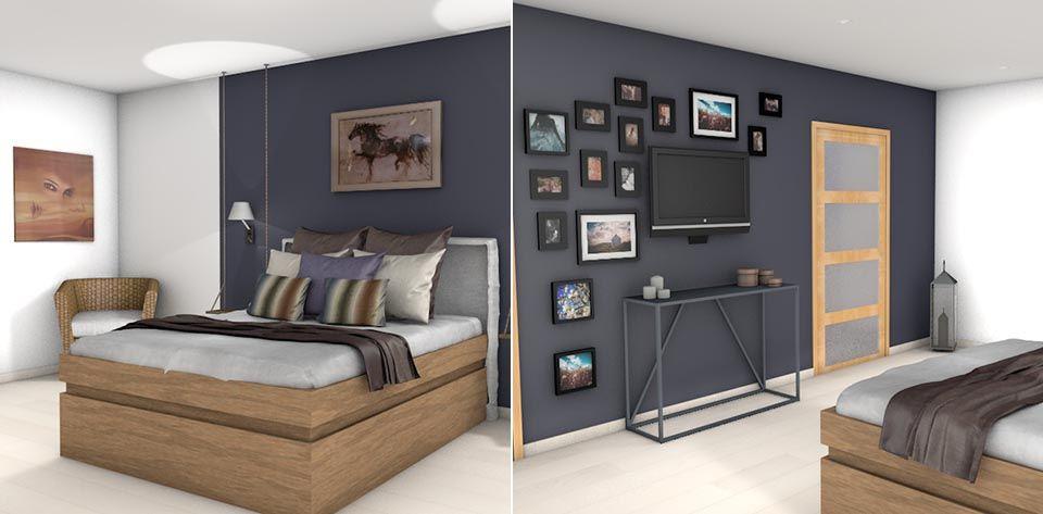 Décoration Suite parentale moderne et design Corse | La 3D au ...
