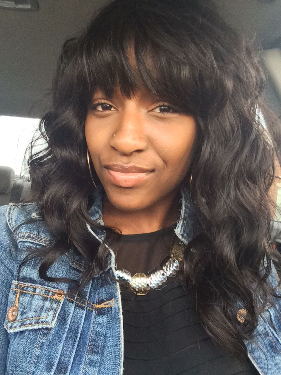 new do! full sew in wavy hair with bangs | hairstyles