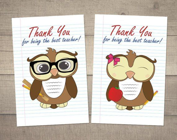 Teacher Thank You Card Teacher Gift Card Teacher Appreciation Card