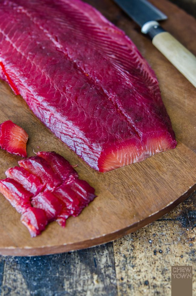 Beetroot and Gin Cured Salmon | Chew Town Food Blog