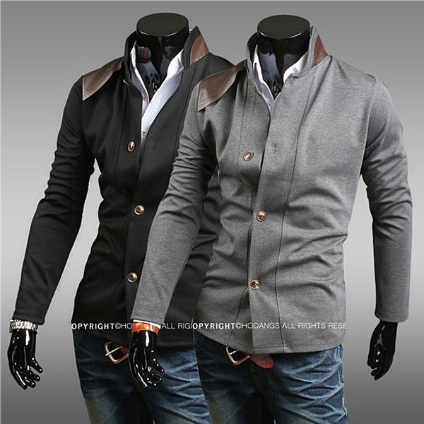 Slim Fit PU Leather Inset Tunic Blazer http://www.sneakoutfitters.com/Fall-2013-Collection/Slim-Fit-PU-Leather-Inset-Tunic-Blazer-p4317.html