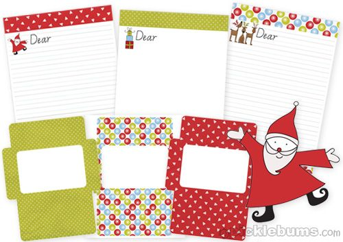 2011 christmas printable series christmas letter writing set