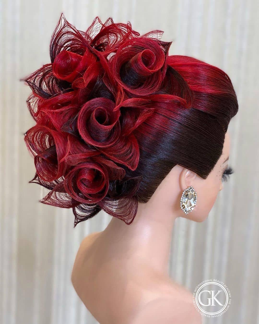 The Best Idea On Instagram Creativehair Haireducation Haircut Hair Hairdo Hairdressing Hairdr In 2020 Competition Hair Black Red Hair Hair Magazine