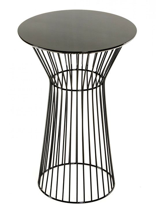 black wire bar table in 2019 10th ave bar round bar table table rh pinterest com
