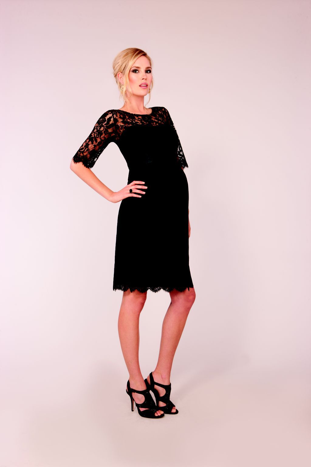 a887474ff5d14 For the Cocktail Party: Seraphine Luxe Black Lace Cocktail Dress ...