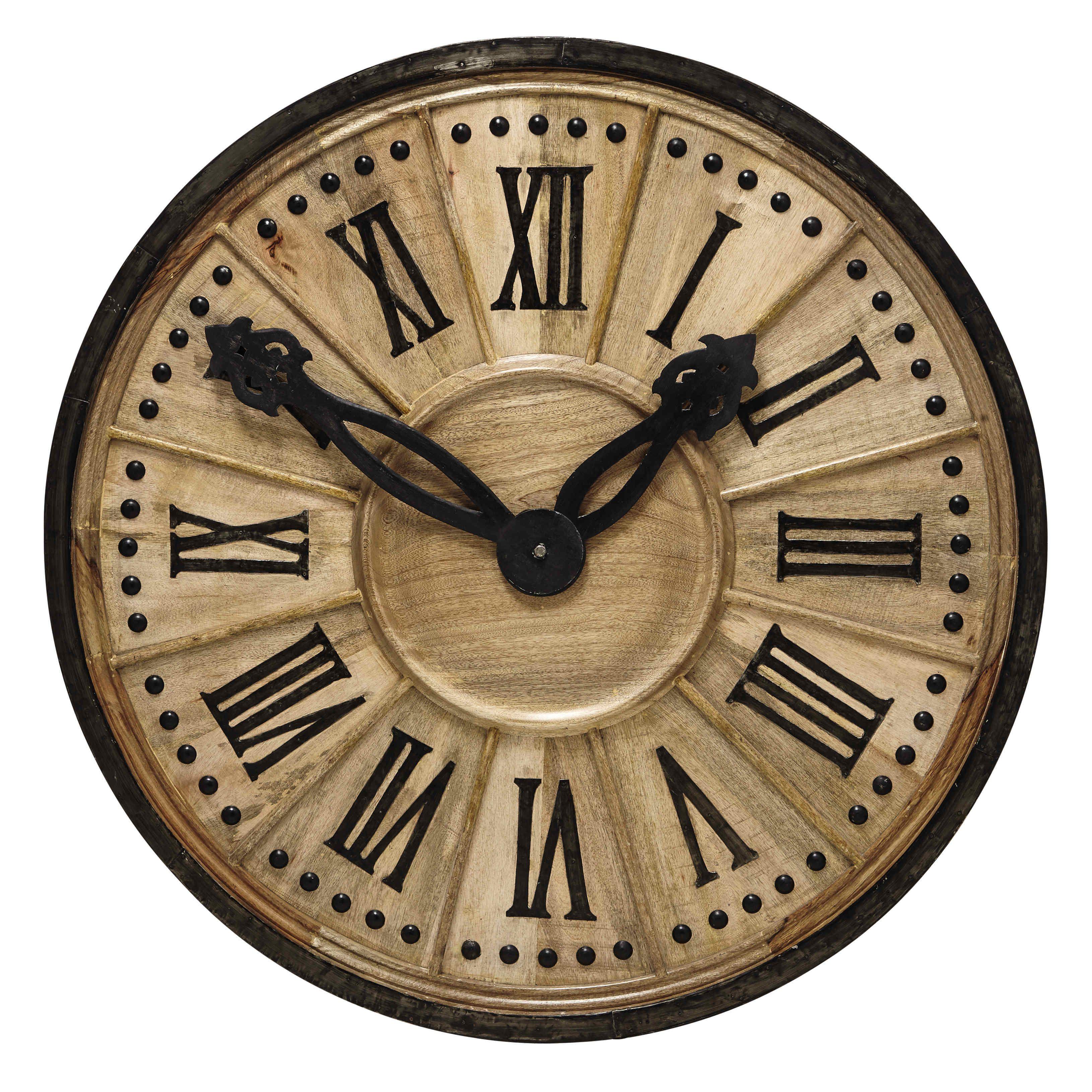 Horloge Décorative En Bois D 120 Cm Langlois Maisons Du