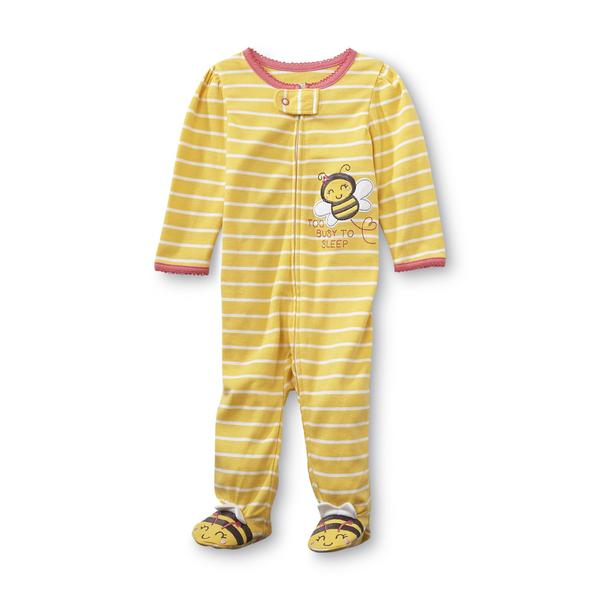 Sears Baby Clothes Cool Little Wonders Newborn Girl's Footie Pajamas  Too Busy To Sleep
