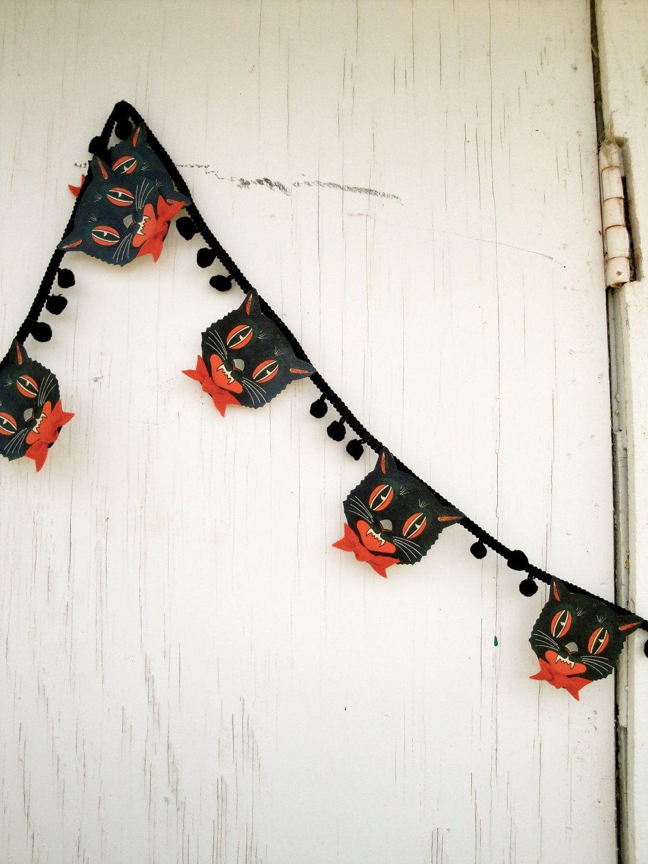 Diy Halloween Garland Scaredy Cat Banner 3 Yards In