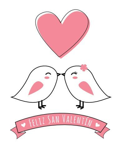 Tarjetas de San Valentín para imprimir. Valentine\'s Day http ...