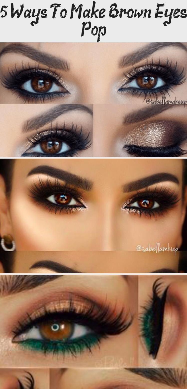 5 Ways To Make Brown Eyes Pop Makeup Etk Brown Eyes Pop How To Make Brown Purple Eyeliner