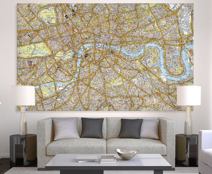 Az Street Map Of London.A Z Canvas London Street Map Huge Maps Of London Street Map Of