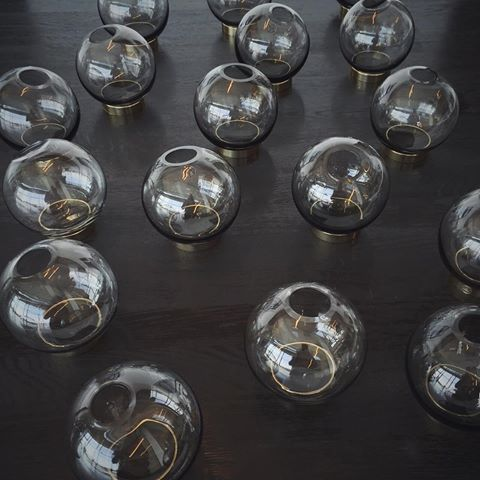 More Mini Globes – they are all over the place these days! #AYTM #AYTMdesign #interiordesign #danishdesign #weloveit #SS16 #Homedecor #Uniquestyle #Mini #Globe #vase #glass #brass