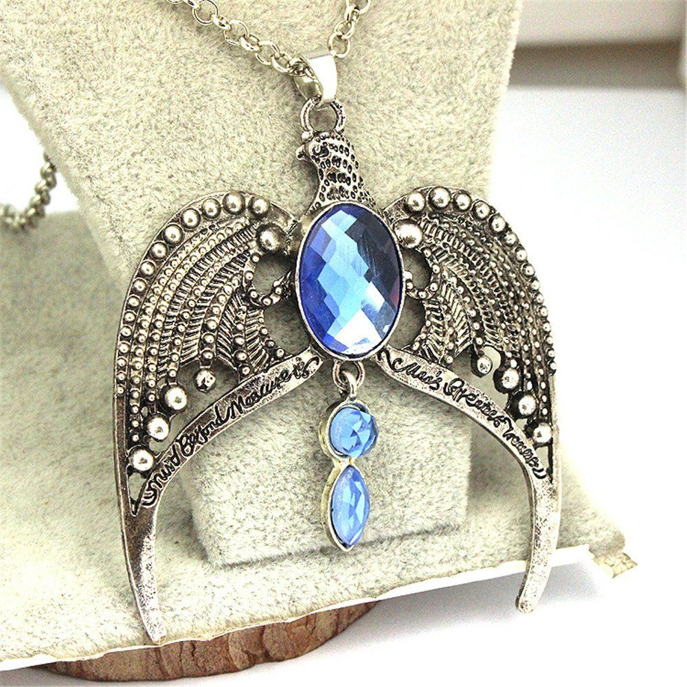Harry Potter Ravenclaw Necklace Glass Dome Chain Pendant Necklace wholesale