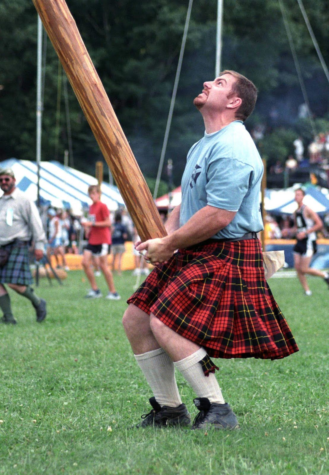 Scottish Highland games The caber toss Scottish