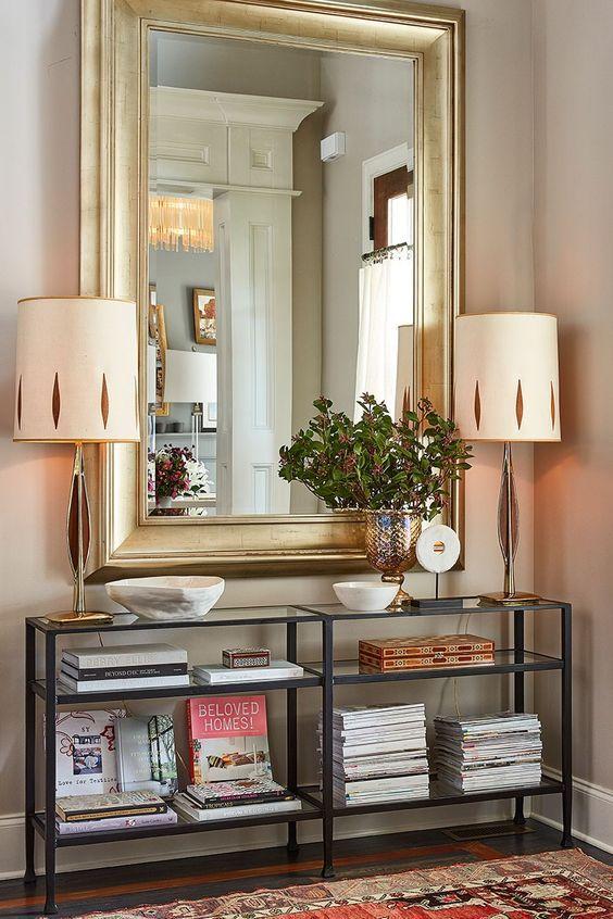 espejos grandes para decorar el recibidor tarjetas de