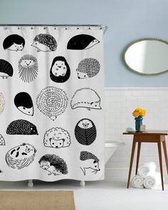20 Hedgehogs Shower Curtain