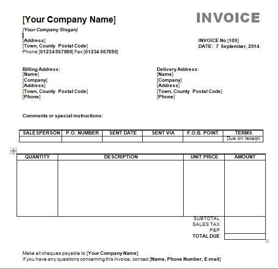 Free Simple Invoice Template Invoice Templates Invoice Template Word Invoice Template Microsoft Word Invoice Template