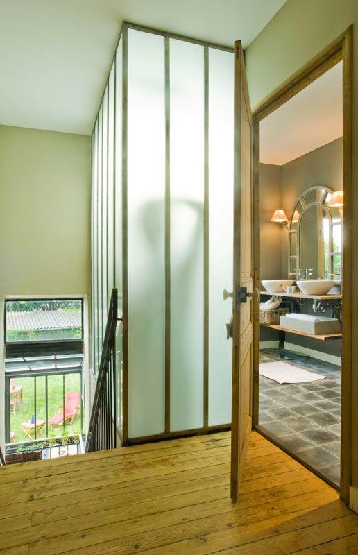 06 Salle Bain Jpg 516 800 Pixels Cloison Vitree Interieure Idee Deco Maison Decoration Interieure
