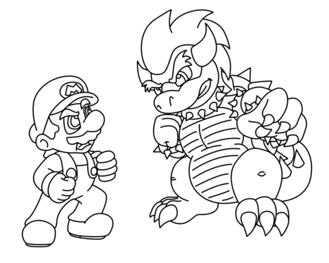 bowser coloring page - Bowser Coloring Pages