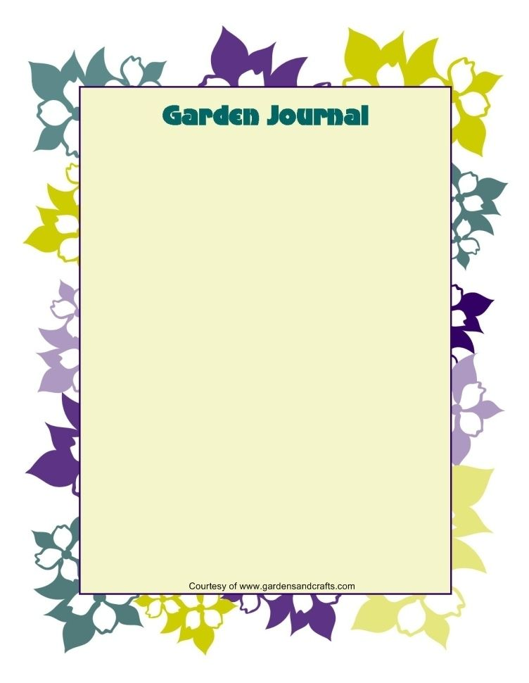 Garden Journal Templates | Gardening | Pinterest | Journal, Template ...