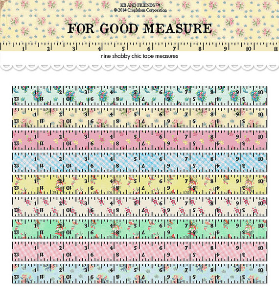 picture regarding Printable Tape Measures named Electronic Shabby Stylish Tape Actions / rulers / common floral