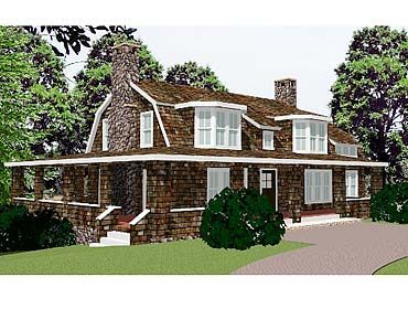coastal home plans maine lake house - Colonial Lake House Plans